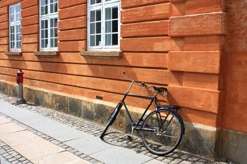 Bicycle in Copenhagen (Denmark, Europe)