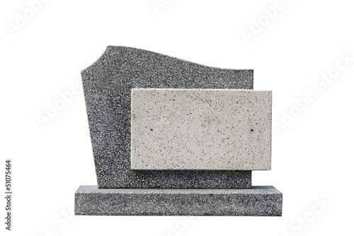 Fotobehang Begraafplaats single grave stone cut out (Clipping path)