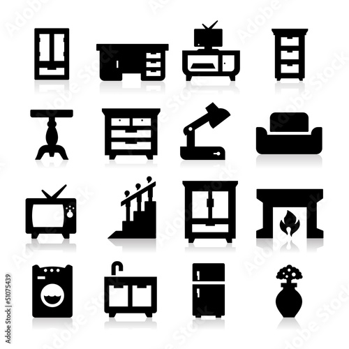Furniture Icons three