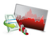 failing stock exchange graph