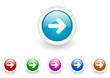 arrow right vector glossy web icon set