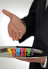 Symbolfoto fuer freundlichen Service