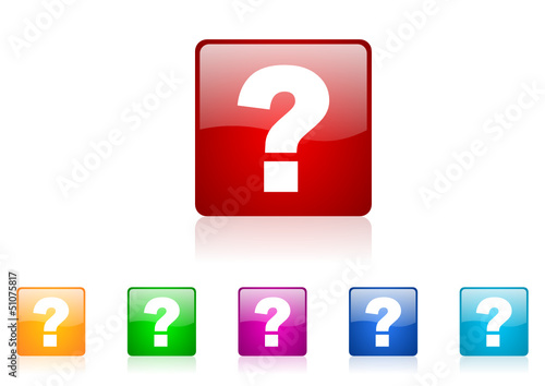 question vector glossy web icon set