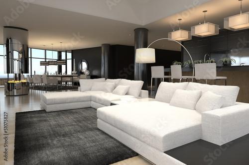 Gamesageddon Luxury Living Room Interior With Huge Windows