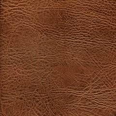 Brown leather texture closeup