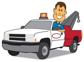 Service Man and Tow Truck