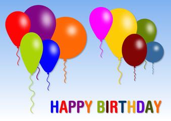 Happy Birthday Luftballons