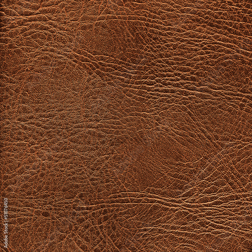 Fotobehang Stof Brown leather texture closeup