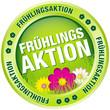 """Button """"Frühlingsaktion"""" grün"""