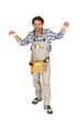 Handyman wearing a toolbelt