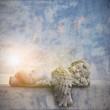Engel schlafend Textfreiraum