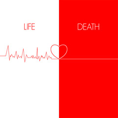 life & death, EKG red line