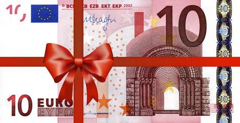 10 Euroschein mit Geschenkband