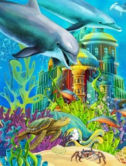 The underwater castle - princess series © honeyflavour