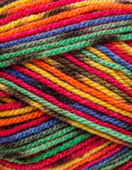 Multicolored yarn
