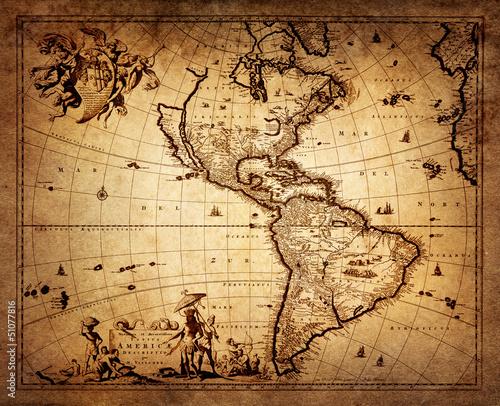 Fototapeta map of America 1690.