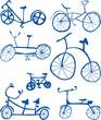 Doodle Bicycles Cutout