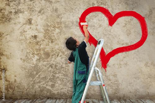 Leinwanddruck Bild Herz