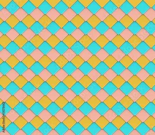 3d abstract diagonal square diamond shape tile backdrop