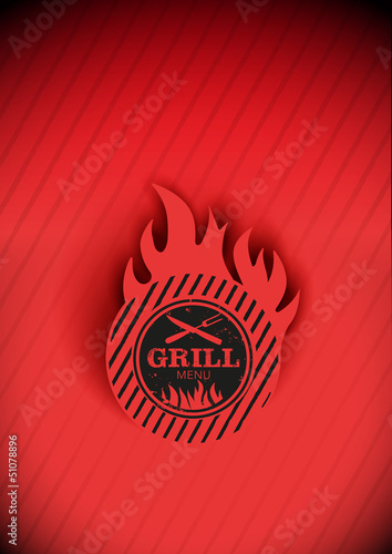 Grill Menu Steak karte Background vector