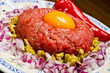 Traditional tartar steak
