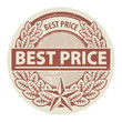 Stamp with the words Best Price written inside the stamp, vector
