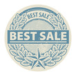 Stamp with the words Best Sale written inside the stamp, vector