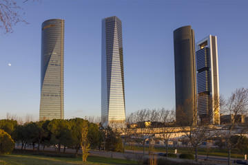 MADRID, SPAIN-5 MARCH: Cuatro Torres Business Area (CTBA) formed