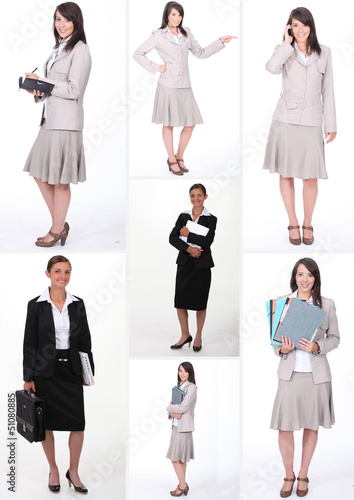 Collage of businesswomen at work