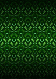 green secession theme pattern dark background vector poster