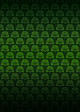 green secession thematic pattern dark background vector poster