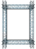 iron blue shiny rectangle construction frame