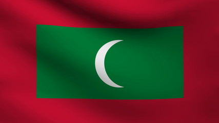 Maldive Islands flag.