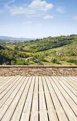 Garden terrace, tuscany