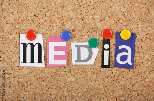The word media in cut out magazine letters buy photos ap images the word media in cut out magazine letters spiritdancerdesigns Choice Image