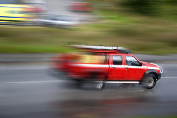 Firefighter vehicle panning
