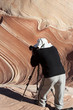 Photographer in Paria canyon