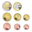 Leinwanddruck Bild - Euromünzen