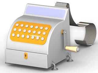 Кассовый аппарат с чековой лентой