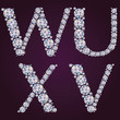 Alphabet of diamonds VWYX