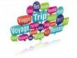 nuage de mots bulles 3D : voyage
