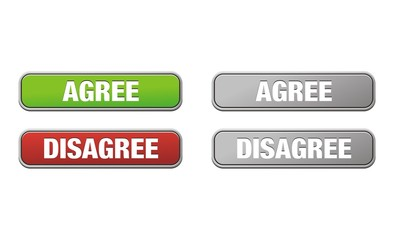agree and disagree buttons