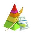 financial pyramid chart illustration