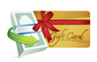 money gift card illustration design