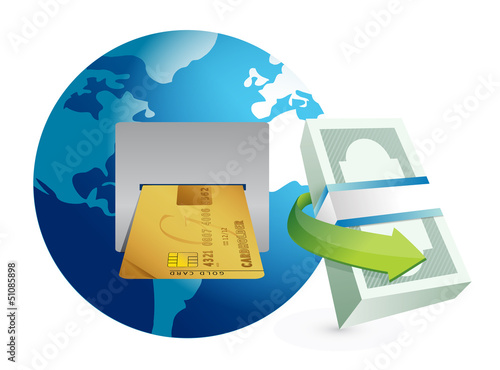 global atm illustration design graphic