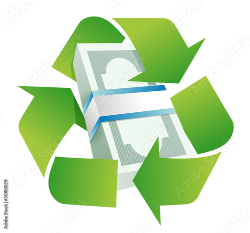 recycle monetary concept