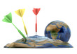 Earth deflated by darts
