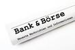 Bank & Börse Zeitung