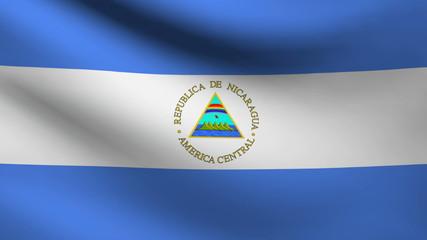 Nicaragua flag.