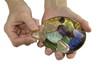 Crystal healer offering rutilated quartz